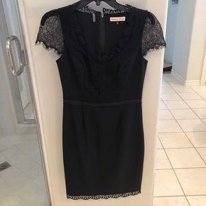 Rebecca Taylor Cap Sleeve Black Dress